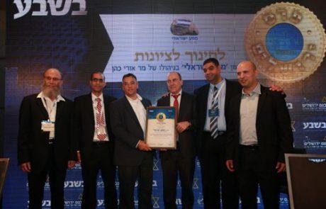 אתכם ובזכותכם זכינו בפרס ירושלים, בקטגוריית ציונות!