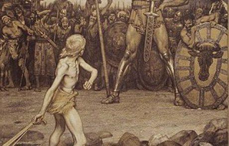 על קרב דוד וגוליית בעיינים מדעיות.